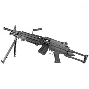 AIRSOFT RIFLE SUPORTE ROSSI LMG M249 LIGHT ELET 6MM