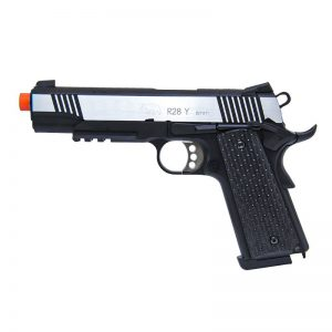 AIRSOFT PISTOLA GBB R28Y M1911 WARRIOR DUAL TONE FULL METAL BLOWBACK 6MM – QGK